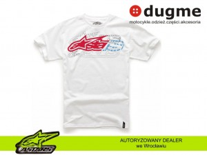 t-shirt Alpinestars ON OFF CLASSIC biały
